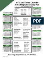 2012-2013 Calendar iSchool University Park