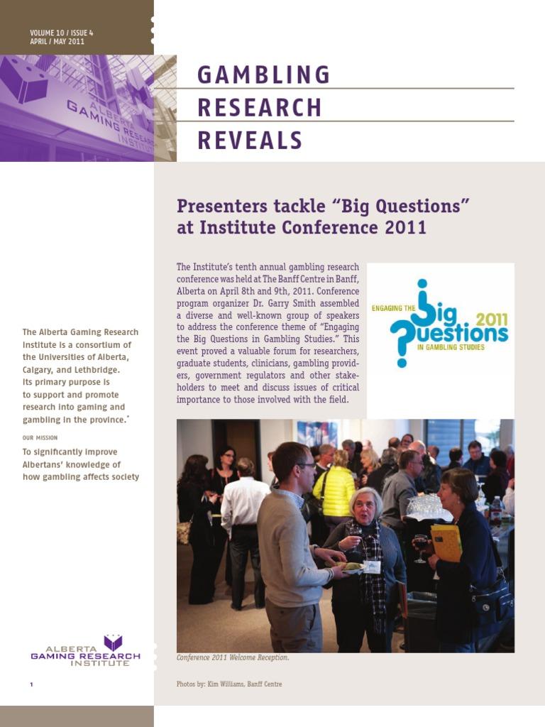 Alberta gambling research institute conference 2014 stop gambling