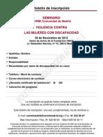 Boletin de Inscripción accesible - Seminario Violencia Mujer CERMI Madrid 20-11-12