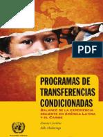 (CEPAL, 2011) Programas Transferencias Condicionadas ALC 95