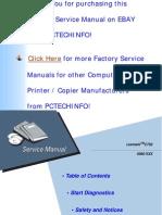 OPTRA C750 Service Manual
