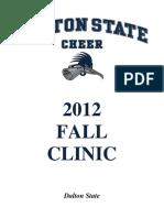 2012 Fall Cheerleading Clinic Packet