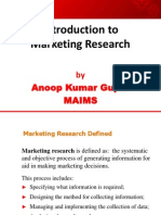 1 Introduction to Marketing Research