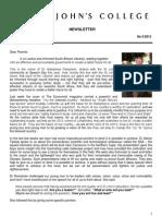 Newsletter 5 Michaelmas Term 2012