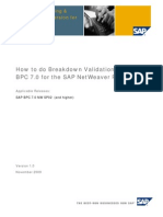 Breakdown BPC Validation