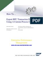 Export BPC Transaction DATA.