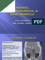 Abordul Neurochirurgical Al Bazei Craniului