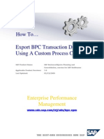 EXPORT BPC TRANSACTION DATA