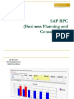 SAP BPC - Sales Forecasting POC - Hoshan Pan_Final.