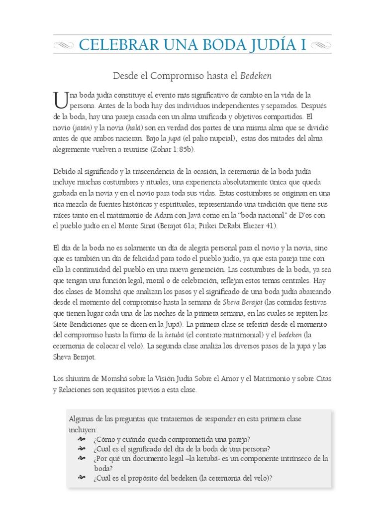 0b4cf6528 Celebrar Una Boda Judia I