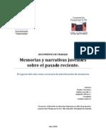 Documento Memoria y Narrativa Juvenil en Pasado Reciente. Bea Areyuna