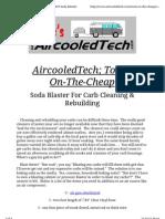 AircooledTech s Tools-On-The-Cheap - DIY Soda Blaster