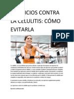 EJERCICIOS CONTRA LA CELULITIS