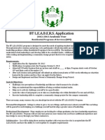 BT LEADERS Program Application