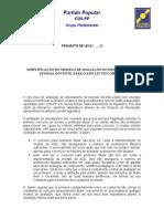 Projecto de Lei sobre a Avaliação do Desempenho Docente