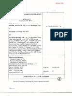 Affidavit of Steven D Zansberg