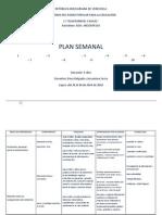 Plan Semanal Del 26 Al 30 de Abril de 2010
