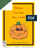 Halloween Noun Verb Scoot
