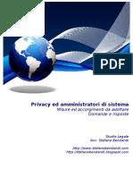 Privacy ed amministratori di sistema