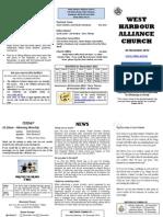 Church Newsletter - 04 November 2012
