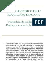 MARCO HISTÓRICO DE LA EDUCACIÓN PERUANA