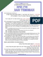 Vaeira - Selections from Rabbi Baruch Epstein