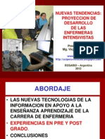 NUEVAS TENDENCIAS:PROYECCION DE DESARROLLO DE LAS ENFERMERAS INTENSIVISTAS