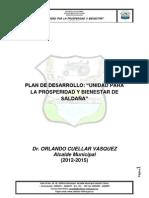 PLAN DE DESARROLLO SALDAÑA