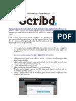 Cara Terbaru Download Di Scribd Secara Gratis Update Oktober 2012