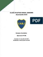 Memoria y Balance de la temporada 2011-12 de Boca Juniors