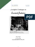 Descriptive Catalogue of Looted Judaica