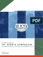 2012 Ivy Sports Symposium Program