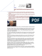 12-10-31 PRESS RELEASE- The US FATCA and the Supreme Court of the State of Israel