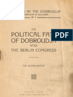 The political fate of Dobroudja after the Berlin Congress
