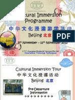 Beijing Pre-Departure Briefing