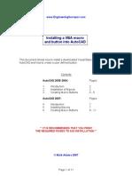 Installing Autocad Macros