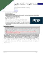 Building a Sales Dashboard Using SAP Xcelsius