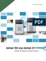 Konica Minolta bizhub 211 Broszura informacyjna