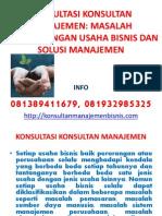 Konsultasi Konsultan Manajemen Masalah Pengembangan Usaha Bisnis Dan Solusi Manajemen
