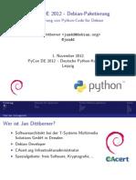 PyCon De 2012 - Paketierung von Python-Code für Debian