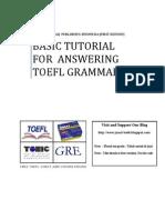 TOEFL Grammar Tutorial