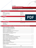 Cc Application Form 2012