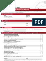 Cc Application Form 2012