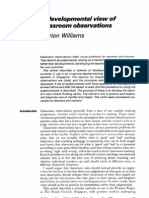 Williams a Developmental View of Classroom Observation (1989)