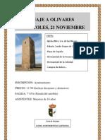 Cartel viaje a Olivares