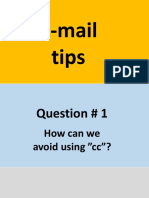 e-mail tips