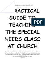 A Practical Guide to Teaching Special Needs Class at Church - Part 1