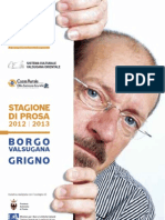 Borgo Grigno Stagione in Prosa 2012-2013