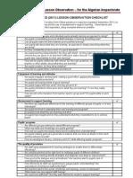 Appendix 5i - OfSTED 2011 LessonObservationCheckListv2.1