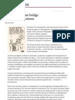 Academics Must Bridge Divide With Business - FT